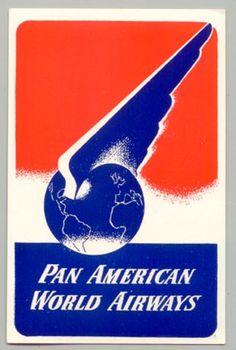Pan American World Airways Baggage Label (1940s)