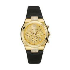 Bulova Women's Leather Chronograph Watch