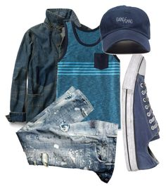 """""""Blue Summer"""" by fachrur-roziq on Polyvore featuring MANGO MAN, Old Navy and Converse"""