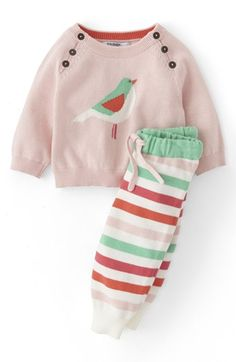 Mini Boden Cotton Top & Pants (Baby Girls) available at #Nordstrom