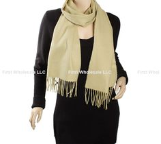 Cashmere Feel Scarf Z19-19 Color: Beige