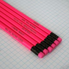 "This pencil set: | Community Post: 35 Totally Fetch ""Mean Girls"" Products You Didn't Know Existed"