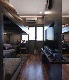 Bedroom Setup, Room Design Bedroom, Bedroom Loft, Bedroom Themes, Bedroom Decor, Game Room Design, Small Room Design, Deco Studio, Gamer Room