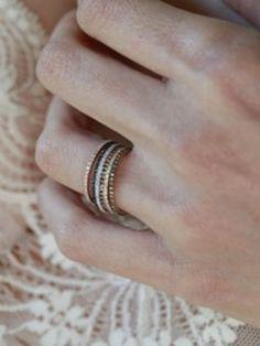 Gabriela Artigas Axis Rings: $560; gabrielaartigas.com #weddingring #nontraditionalbride #engagementring