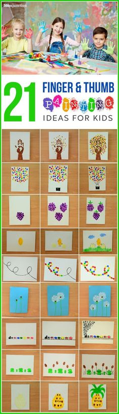 We have selected some of the easiest and fun to work on finger painting and thumb print painting ideas for kids of all ages. These ideas are so much fun, that even you would want to try them out with your kids.