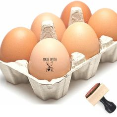 A Farm Fresh Eggs stamp is a great way to personalize your backyard chicken eggs from your own chicken coop. Homesteading? This is a mini size just for chicken eggs. Its a great way to customize your eggs and makes a great gift for the chicken lover in your life. . . . . . . . .