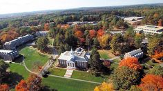 Aerial view of Babson College in Massachusetts
