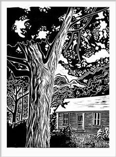 Lino Print by Michele Johnsen
