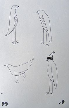 how to draw more birds