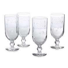 Princess Moderna™ Pedestal Glasses (set of 4) | Princess House | Now thru July 5th we are giving away 3 sets along with copies of Latin Twist: Traditional & Modern Cocktails by Yvette of muybuenocookbook.com and Vianney of sweetlifebake.com. http://gvwy.io/jt20jbl #Cocktails #Summer #Entertaining
