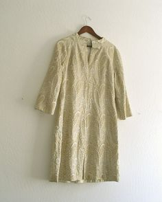 Vintage 60's Metallic Gold and Silver Brocade by KheGreen