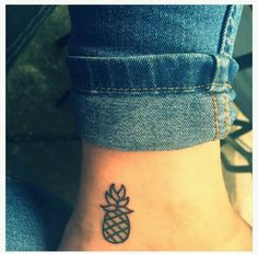 Small pineapple tattoo