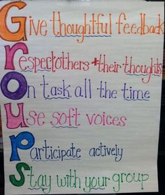 This poster demonstrates a great way to demonstrate group classroom procedure. I would keep this poster up in my classroom all of the time and direct students to read it or reference it whenever we have group work. ZM