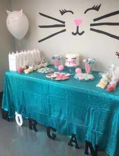 cat birthday party theme / cat birthday party ` cat birthday party ideas ` cat birthday party for cats ` cat birthday party theme ` cat birthday party cake ` cat birthday party food ` cat birthday party ideas for cats ` cat birthday party ideas decoration Birthday Cake For Cat, Birthday Tags, Birthday Party Games, Birthday Party Decorations, Kitten Birthday Parties, 7th Birthday Party For Girls Themes, Second Birthday Ideas, Kitty Party, Bolo Musical