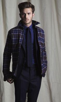 Here, Ian Velardi on how to dress up a shirt jacket. —erica