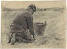 Aardappelrooier, Anton Mauve, c. 1848 - c. 1888