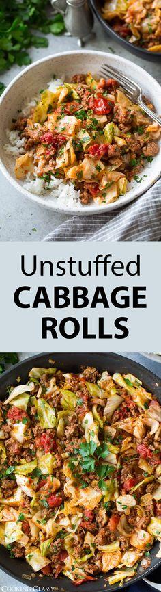 Unstuffed Cabbage Rolls via @cookingclassy