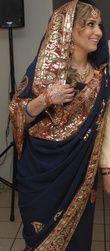 Robe Sari indienne d'occasion avec bijoux et chaussures traditionnelles