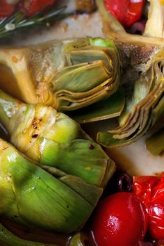 With their intense character, artichokes can be hard to pair with other big personalities. But bone-in chicken pieces are amenable, and go nicely with the everything else in the pan. Plus, adding chicken turns a side dish into a meal, without much more work. (Photo: Andrew Scrivani for The New York Times)