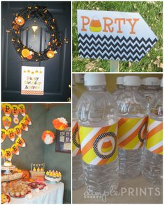 Cute Candy corn birthday party