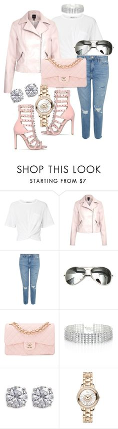 """""""Untitled #113"""" by iamchictrend on Polyvore featuring T By Alexander Wang, Chanel, Red Herring, CZ by Kenneth Jay Lane and Christian Dior"""