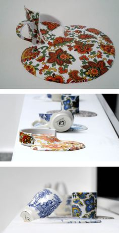 "Chilean artist Livia Marin showcases ""Broken Things"" in which she takes mass produced items, and makes them into unique works of art. Kintsugi, Artsy, Art And Architecture, Ceramic Art, Art Lessons, Sculpture Art, Amazing Art, Biscuit, Art Projects"