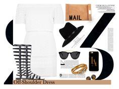"""60 Second Style/Off-Shoulder Dress..."" by unamiradaatuarmario ❤ liked on Polyvore featuring La Femme, Topshop, Stuart Weitzman, Akira, rag & bone, Carolee, Casetify, Smoke & Mirrors, Salvatore Ferragamo and 60secondstyle"