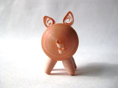 Quilled Tiny Paper  Pig