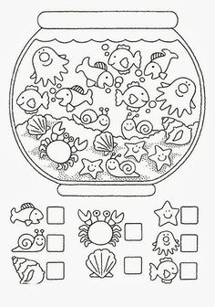 Crafts,Actvities and Worksheets for Preschool,Toddler and Kindergarten.Lots of worksheets and coloring pages. Preschool Learning, Kindergarten Worksheets, Worksheets For Kids, Preschool Activities, Teaching, Number Worksheets, Hidden Pictures, Math For Kids, Kids Education