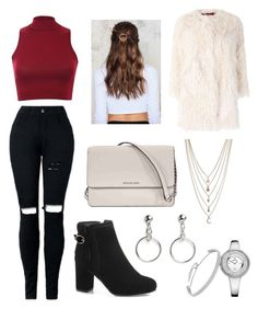 """Untitled #126"" by fashionstyleideas4now on Polyvore featuring Pilot, Zadig & Voltaire, Ettika, Michael Kors, NA-KD and Monki"