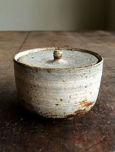 #pottery #ceramics simple rustic covered bowl