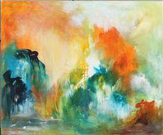 Lauritz.com - Moderne dekorativt maleri - Henrik Krogsholm. Abstrakt komposition. Akryl på lærred - DK, Herning, Engdahlsvej