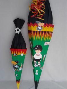 Schultüten - Schultüte Fußballer,Fußball,Bastelset - ein Designerstück von Jeanetts_Creativ_Stube bei DaWanda
