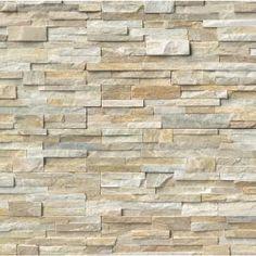 MS International, Golden Honey Ledger Panel 6 in. x 24 in. Natural Quartzite Wall Tile (5 cases / 30 sq. ft. / pallet), LPNLQGLDHON624 at The Home Depot - Mobile