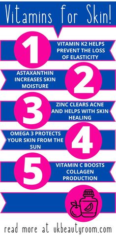 Do you want a smoother, brighter and clearer complexion? These 7 vitamin supplements will give you clear, glowing skin, prevent wrinkles & clear acne. A complete guide to the vitamins for healthy skin, anti aging, and may also help with hair as well as general health. Take these while also keeping up with your regular skincare routine. It will maintain elasticity, and retain moisture in the skin. Best for dark spots and oily skin. For women who want glowing skin. #womenshealth #skincare Beauty Hacks Skincare, Beauty Tips For Skin, Skincare Routine, Vitamins For Healthy Skin, Healthy Skin Tips, Oily Skin Care, Skin Care Tips, Organic Skin Care, Natural Skin Care