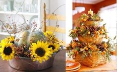 rustic christmas centerpieces for tables   Very practical: Fruits and vegetables for a rustic Christmas decor
