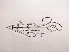Cool Arrow Tattoo Designs - Tattoo Thinks Trendy Tattoos, New Tattoos, Body Art Tattoos, Small Tattoos, Tatoos, Stencils Tatuagem, Tattoo Stencils, Arrow Tattoo Design, Tattoo Arrow