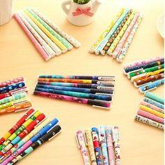 Kit com 6 canetas decoradas - Brilhos e Purpurinas