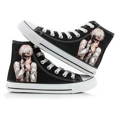 Anime Tokyo Ghoul; Ken Kaneki canvas sneakers. Anime Market ❤ liked on  Polyvore featuring
