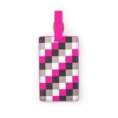 Heys - Pink Checker Luggage Tag  35021-3142-00