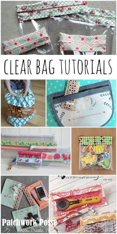 clear bag tutorials to sew