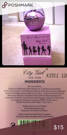 Ron Marone's City Girl New York Perfume Only used once. Ron Marone Other