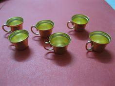 My mini world: Tea cups, made from mini bells