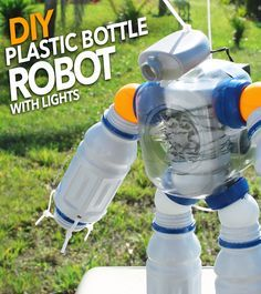 DIY Plastic Bottle Robot Night Light ‪#‎BringingInnovation‬ ‪#‎ad‬ ‪#‎Cbias‬