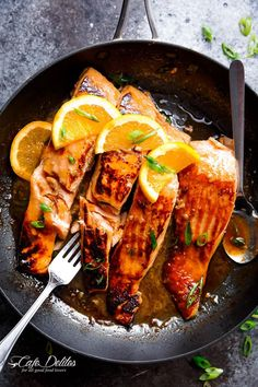Crispy Honey Orange Glazed Salmon - Cafe Delites