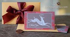 Free Printable Mini Holiday Thank You Card. #Christmas