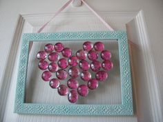 glass beads valentine craft