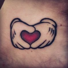 Mickey Hands and ❤️ on @imogenrhodes #inkeddisney