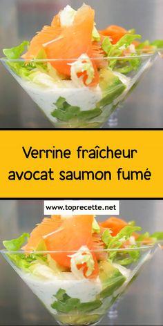Verrine fraîcheur avocat-saumon fumé Appetizers, Ethnic Recipes, Ali, Cooking Recipes, Appetizer, Ant, Entrees, Hors D'oeuvres, Side Dishes