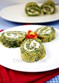 Tortilla de espinacas con queso crema vegano | CreatiVegan.net